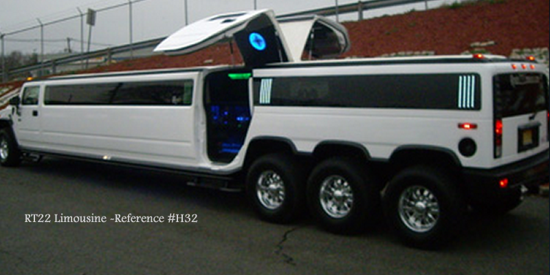 Hummer H2 Triple Axel with Jet Doors & Route22 Limousine| SUV Limousines New Jersey New York Pezcame.Com